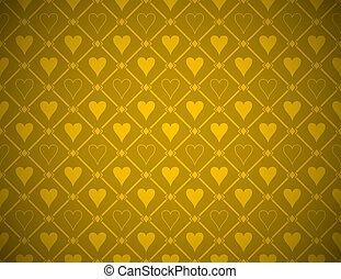Vector Poker Golden Background