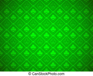 Vector Poker Green Background