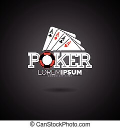 Vector Poker Logo Design Template with gambling...