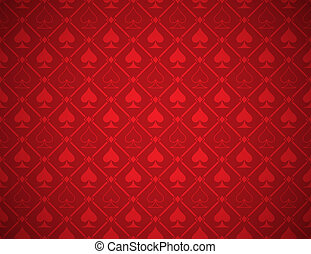 Vector Poker Red Background