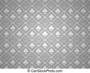 Vector Poker Silver Background - This image is a vector...