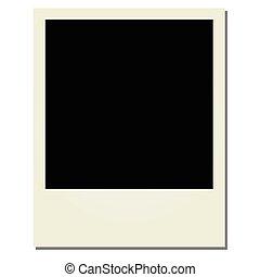Vector Polaroid on a white background