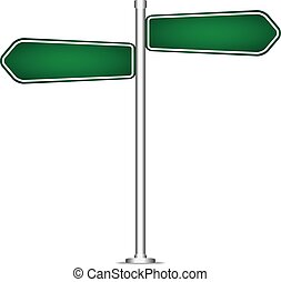 vector pole sign road blank isolated