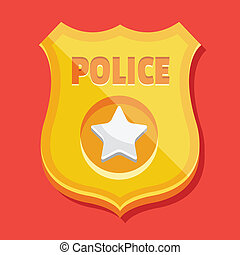 Vector Police Badge Icon