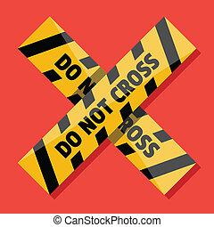 Vector Police Line Do Not Cross Ico