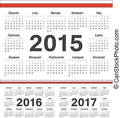 polsky kalendar Vecto rcircle calendars 2015, 2016, 2017. Vector circle calendars  polsky kalendar
