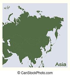 vector Political Map of Asia