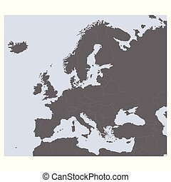 vector Political Map of Europe