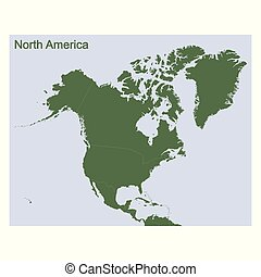 vector Political Map of North America