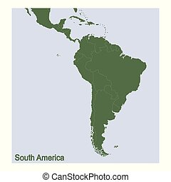 vector Political Map of South America