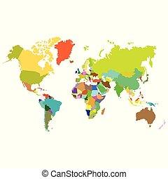vector political world map