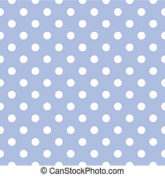 Seamless vector pattern with white polka dots on a sweet pastel blue background. For cards, invitations, wedding, baby shower, albums, backgrounds, arts, decorating or scrapbooks.
