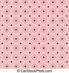 vector polka dot checkered pattern background