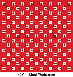 vector polka dot floral pattern background