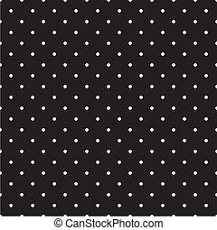 Vector polka dots black background