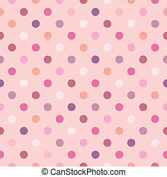 Vector polka dots pink background