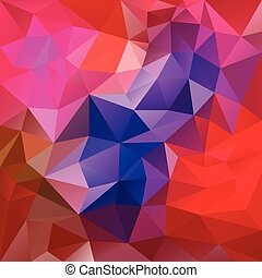 vector polygon background with irregular tessellation pattern - triangular geometric design in vibrant color - red, violet, pink, magenta