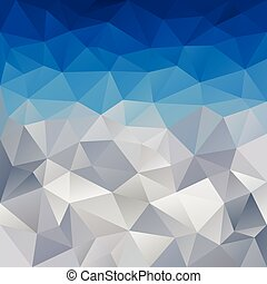 vector polygonal background mountains with snow
