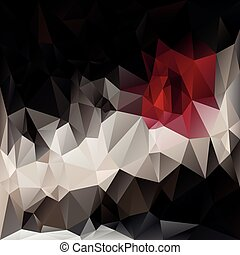 vector polygonal background pattern - triangular design in dark colors - red, black, brown and grey