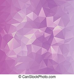 vector polygonal background pattern - triangular design in sweet pink colors