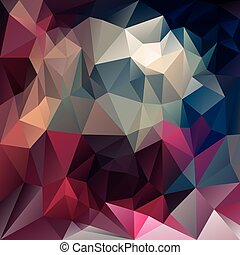 vector polygonal background triangular design in dark ruby colors - pink, magenta, purple, blue
