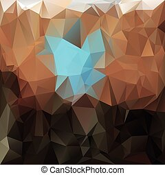 vector polygonal background with irregular tessellations pattern - triangular design in earthy colors - brown, beige and blue