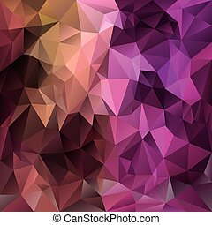 vector polygonal background - triangular design in expressive  colors - pink, magenta, brown, purple
