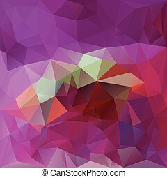 vector polygonal background triangular design in magenta colors - pink