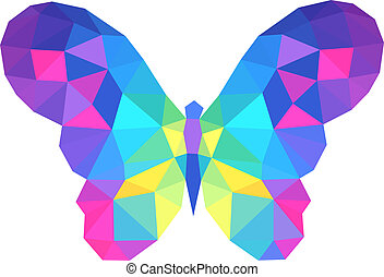 vector polygonal butterfly