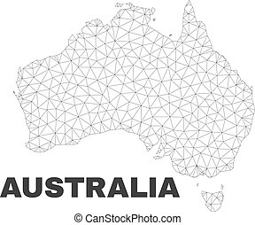 Vector Polygonal Mesh Australia Map