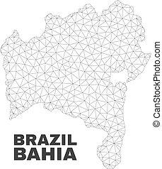 Vector Polygonal Mesh Bahia State Map - Abstract Bahia State...