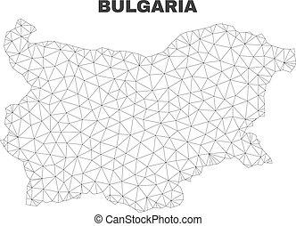 Vector Polygonal Mesh Bulgaria Map