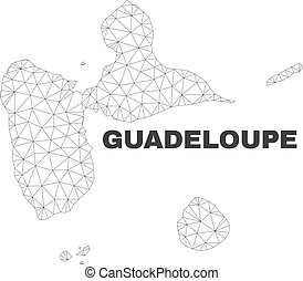 Vector Polygonal Mesh Guadeloupe Map