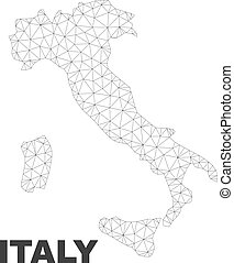 Vector Polygonal Mesh Italy Map