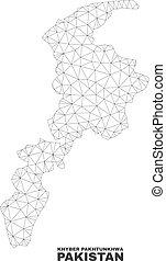 Vector Polygonal Mesh Khyber Pakhtunkhwa Province Map
