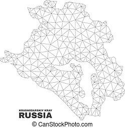 Vector Polygonal Mesh Krasnodarskiy Kray Map - Abstract ...