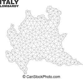 Vector Polygonal Mesh Lombardy Region Map