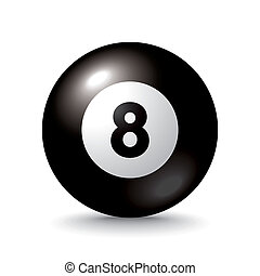 isolated 3d pool ball number 8