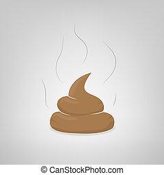 Vector poop illustration