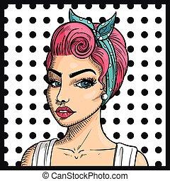 Vector Pop Art Woman