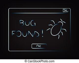 vector pop-up message Bug found