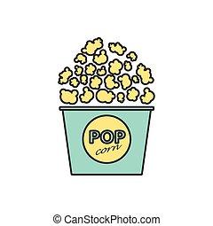 Vector popcorn icon. Eps10 - Vector flat popcorn icon...