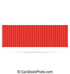vector popular cargo container shipping freight isolated texture