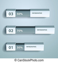 vector, porcentaje, gráfico, infographic, diseño, plantilla