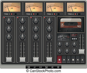 Vector portable recording studio