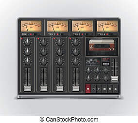 Vector portable recording studioXXL - Retro four track...