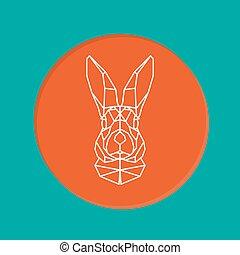 Vector portrait of rabbit