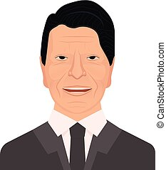 Vector portrait of the 40th President of the United States Ronald Wilson Reagan