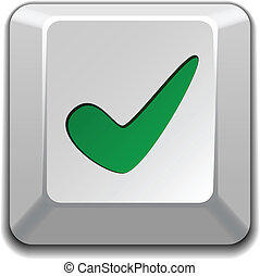 vector positive checkmark key