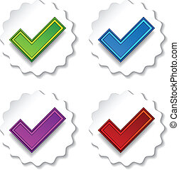 vector positive checkmarks